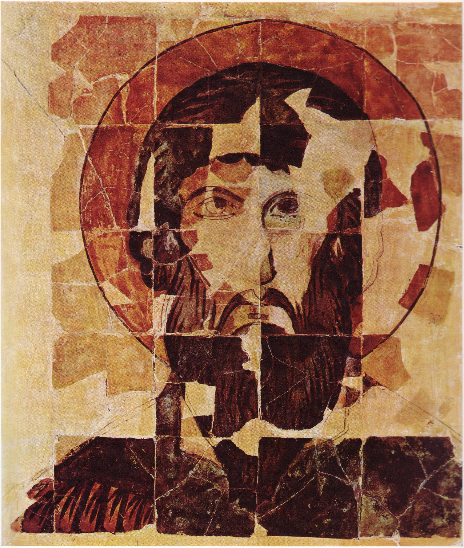 Ikone von Theodor Stratelates, in der Preslawer Keramik gefasst