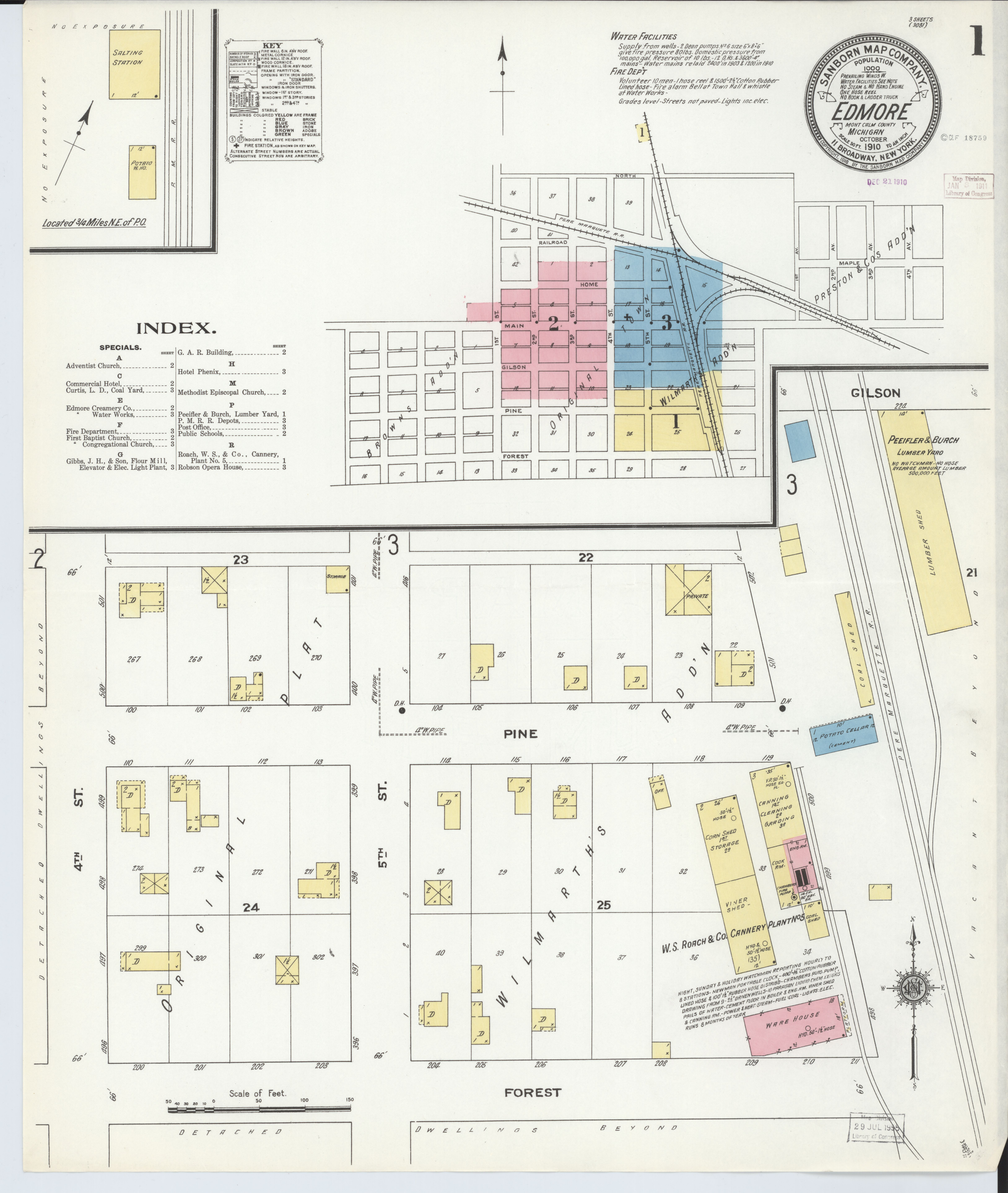 File Sanborn Fire Insurance Map From Edmore Montcalm County