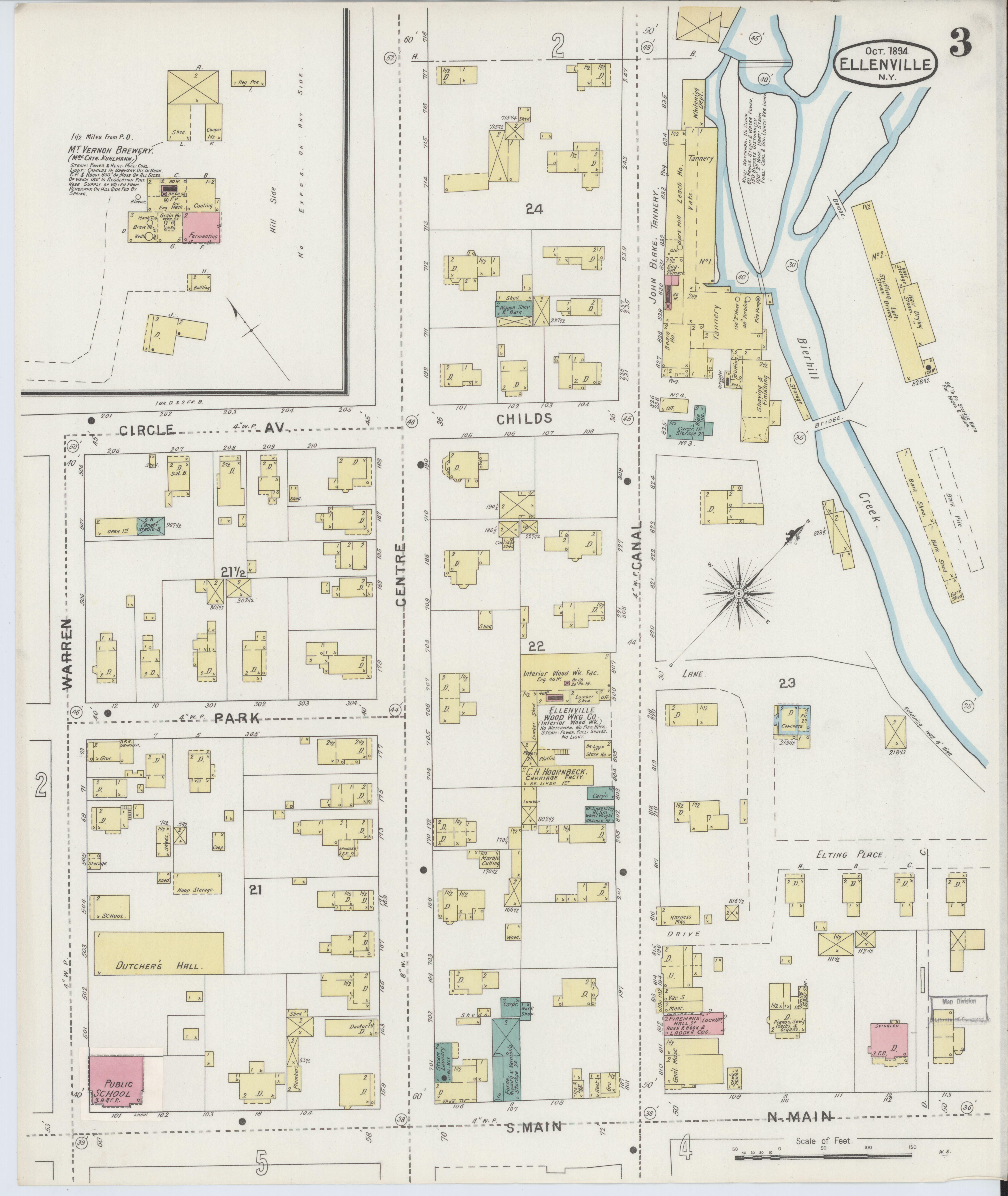 Ulster County New York Map.File Sanborn Fire Insurance Map From Ellenville Ulster County New
