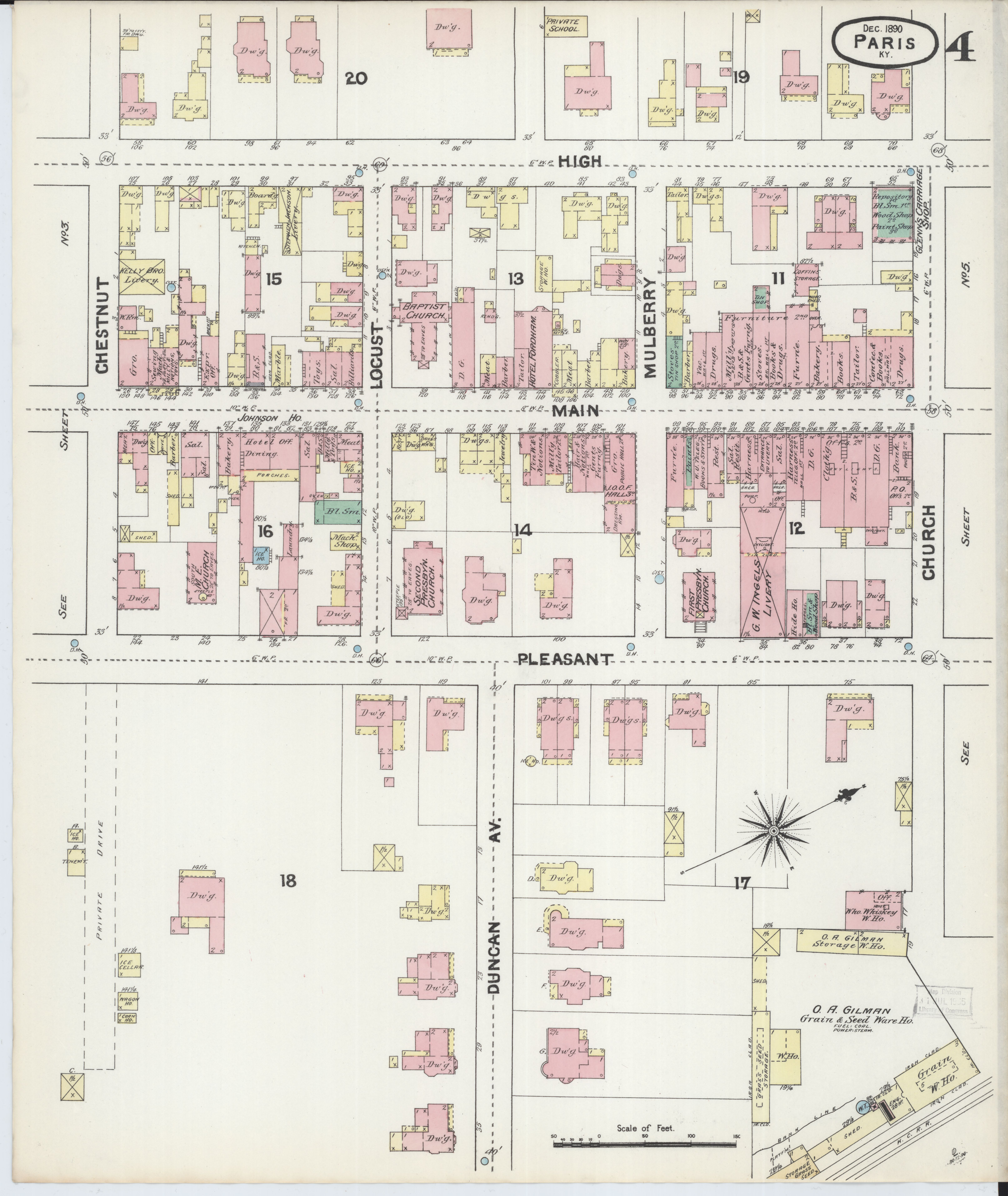 Picture of: File Sanborn Fire Insurance Map From Paris Bourbon County Kentucky Loc Sanborn03227 002 4 Jpg Wikimedia Commons