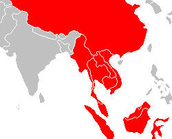 English: Southeast Asia with China, Myanmar, L...