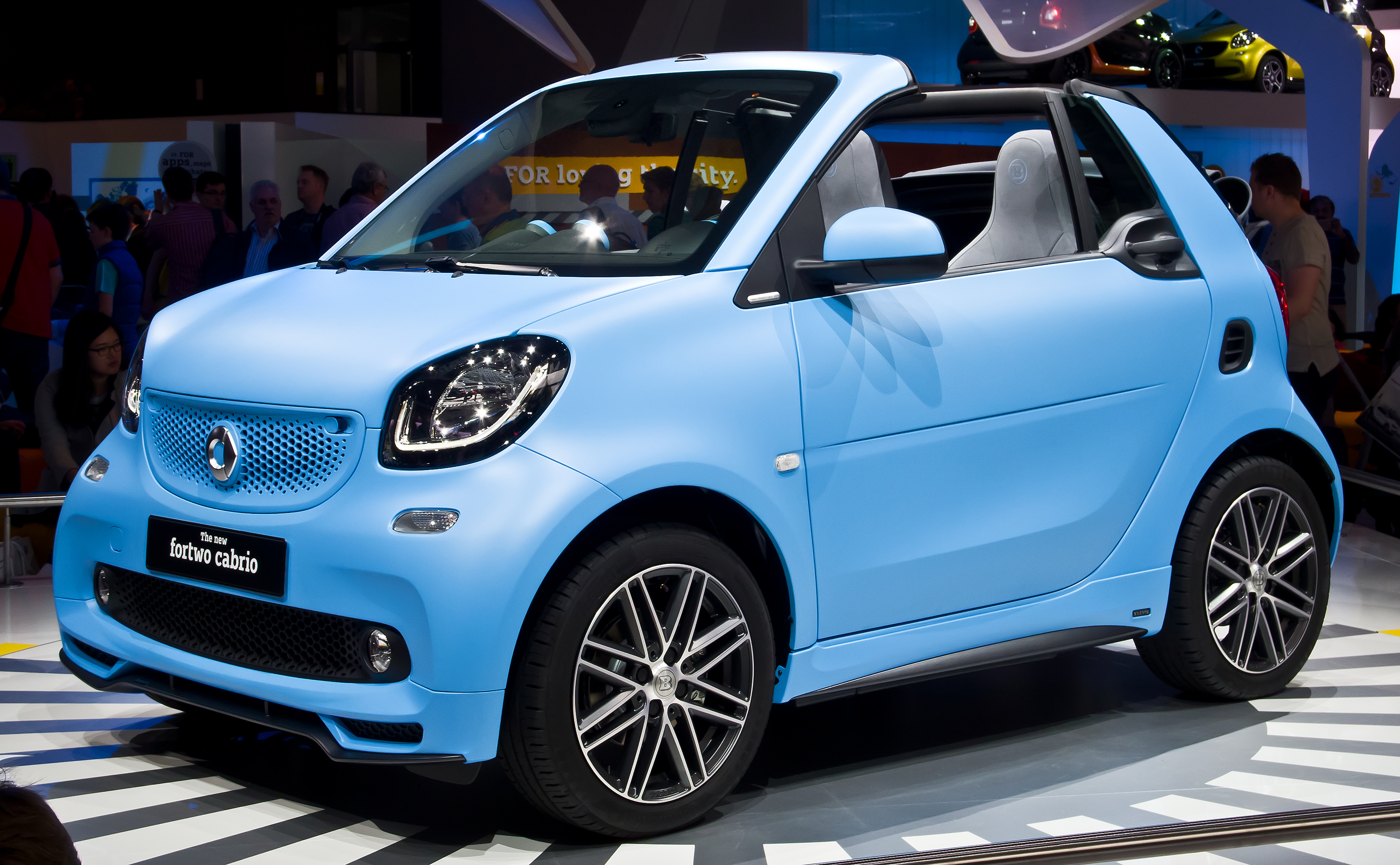 File:Smart Brabus Fortwo Cabrio (A 453) – Frontansicht, 19. September