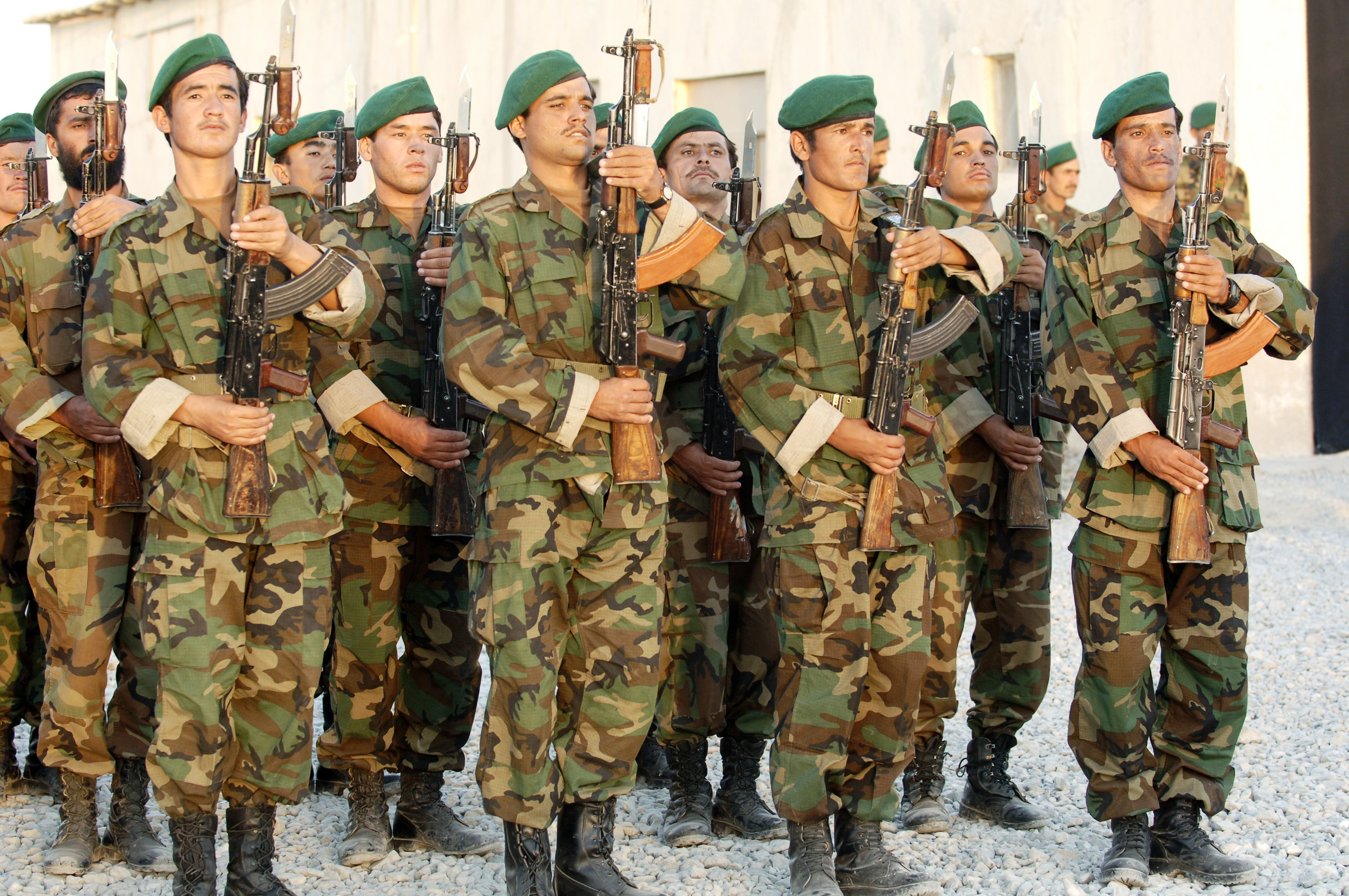 Description soldiers of the 205th afghan national army corps