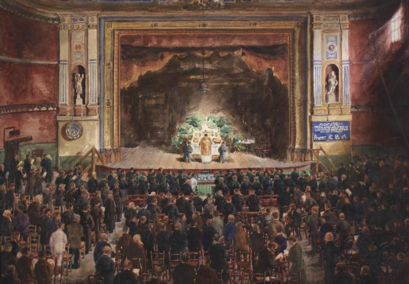 File:Sunday Divine Service in the Theatre Hall of Alexandra Palace 1916 Art.IWMART17077.jpg