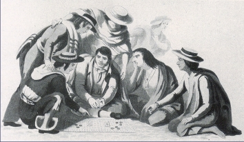 File:The game of monte in the streets of Mexico by Claudio Linati 1828.jpg