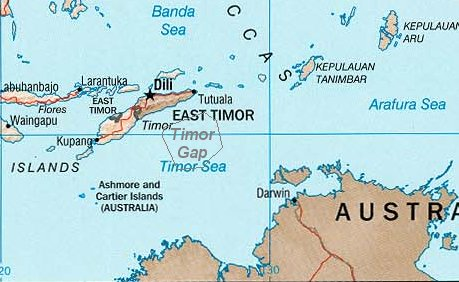 Australia And East Timor Map