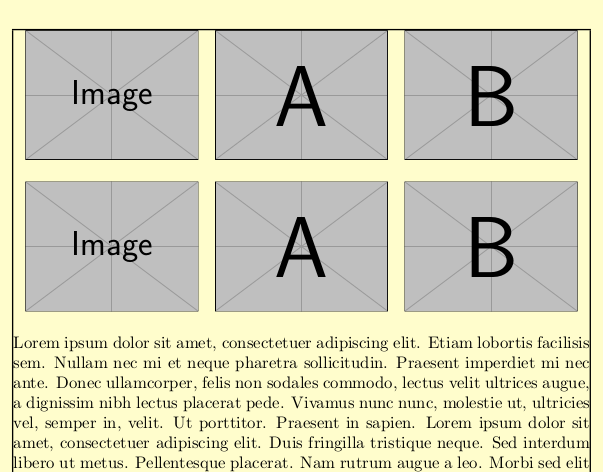 Different images can be aligned in a matrix shape easily.
