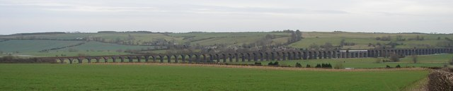Welland Viaduct from Seaton in 2009