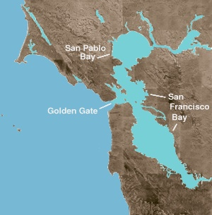 San Pablo Bay, shown with San Francisco Bay