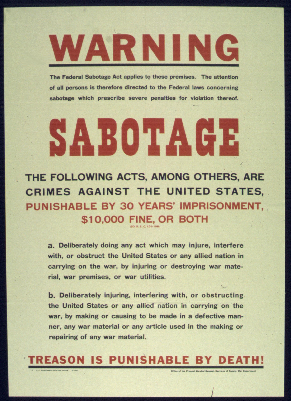Pozor sabotáž!