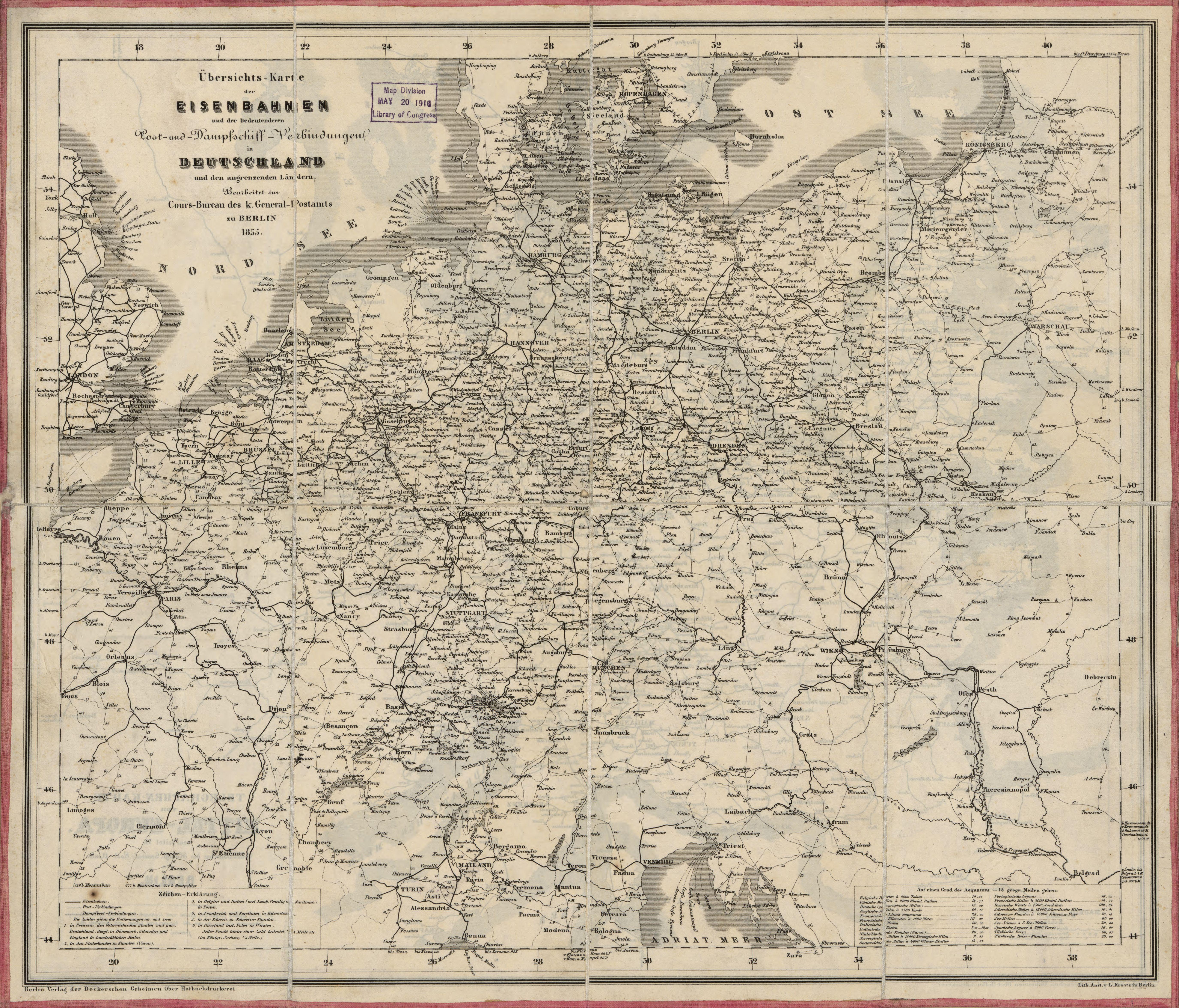 File Ubersichts Karte Der Eisenbahnen Und Der Bedeutenderen Post