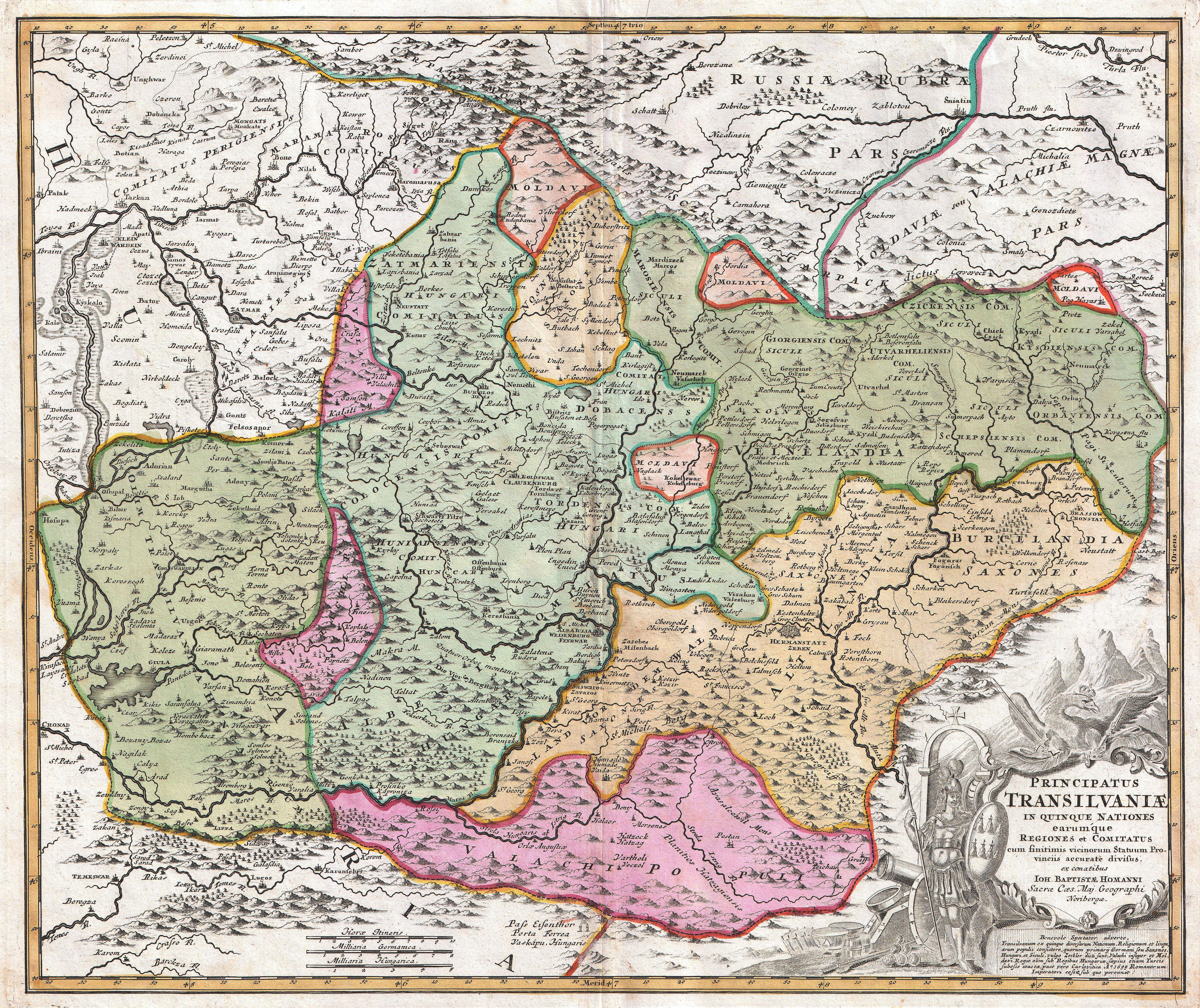 Map Of Transylvania File:1720 Homann Map of Transylvania ( Romania )   Geographicus  Map Of Transylvania