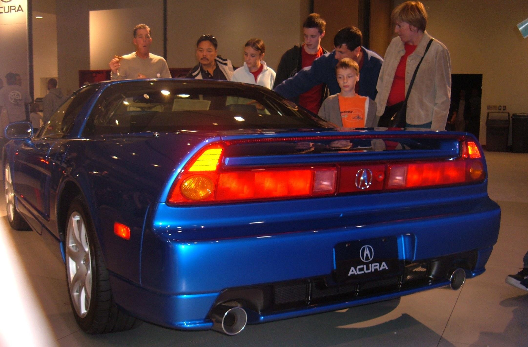 File 2005 Blue Acura Nsx Rear Jpg Wikimedia Commons