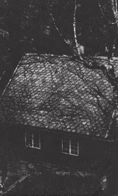 Photograph showing Wittgenstein's house in Norway, sent by Wittgenstein to G. E. Moore, October 1936