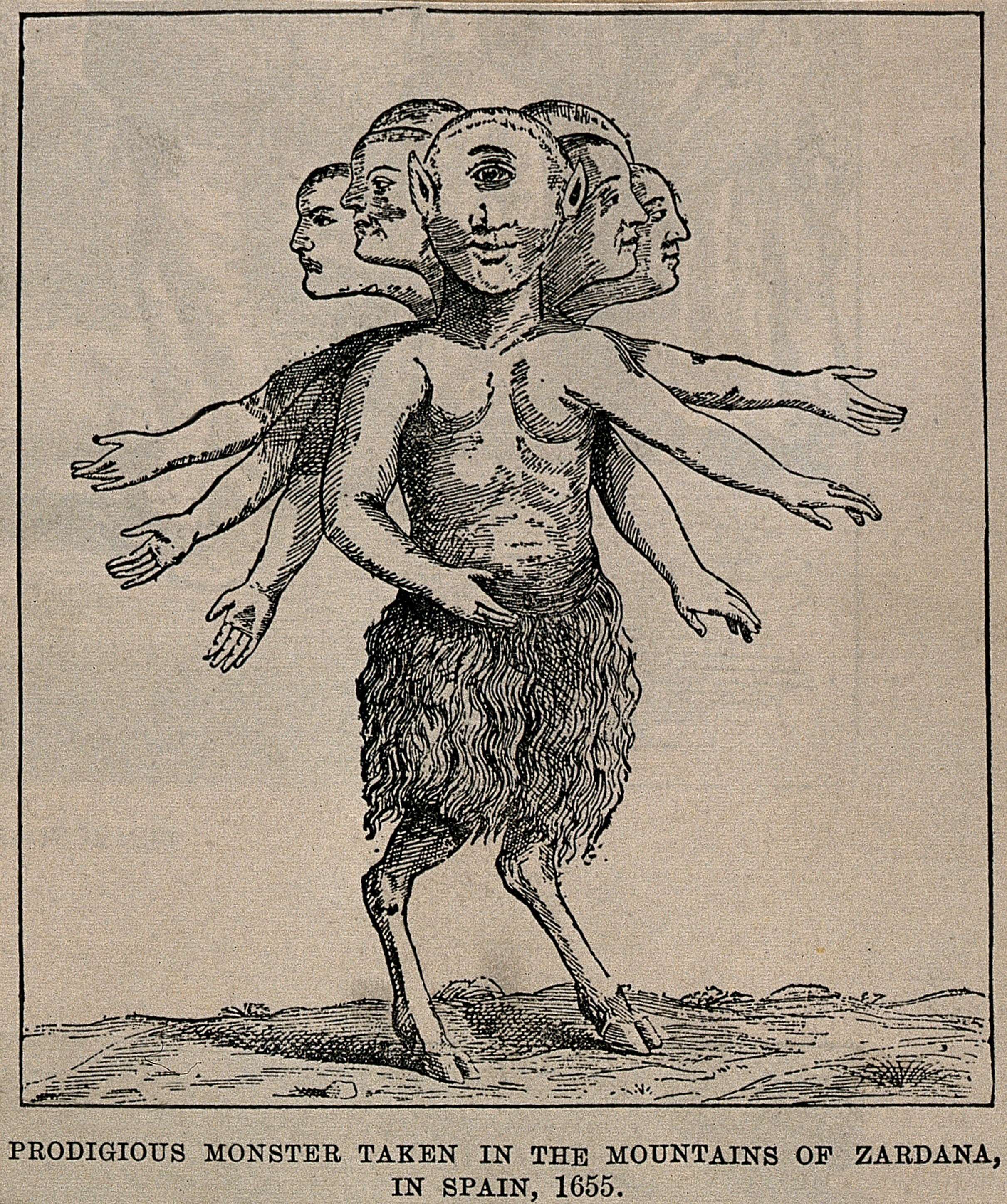 file a fantastic monster a cyclops with multiple heads and arms