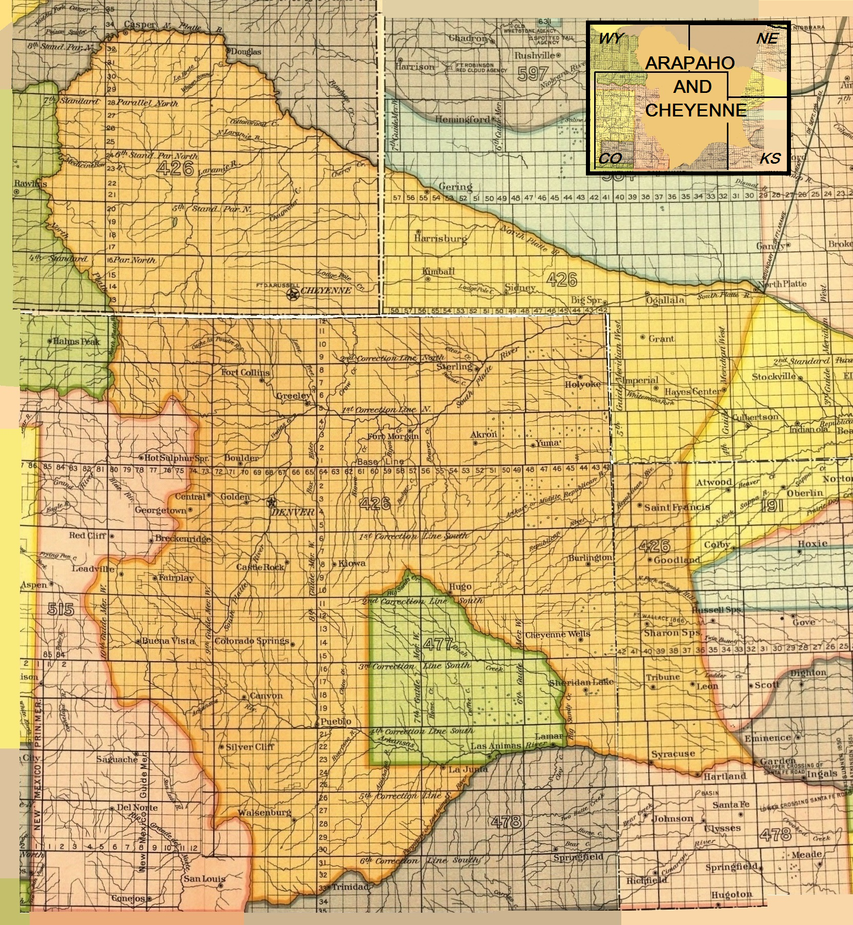 Cheyenne wikipedia arapaho and cheyenne 1851 treaty territory area 426 and 477 area 477 is the reserve established by treaty of fort wise february 18 1861 biocorpaavc Images