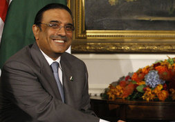 In 1987, Bhutto married Asif Ali Zardari (pictured here in 2008)