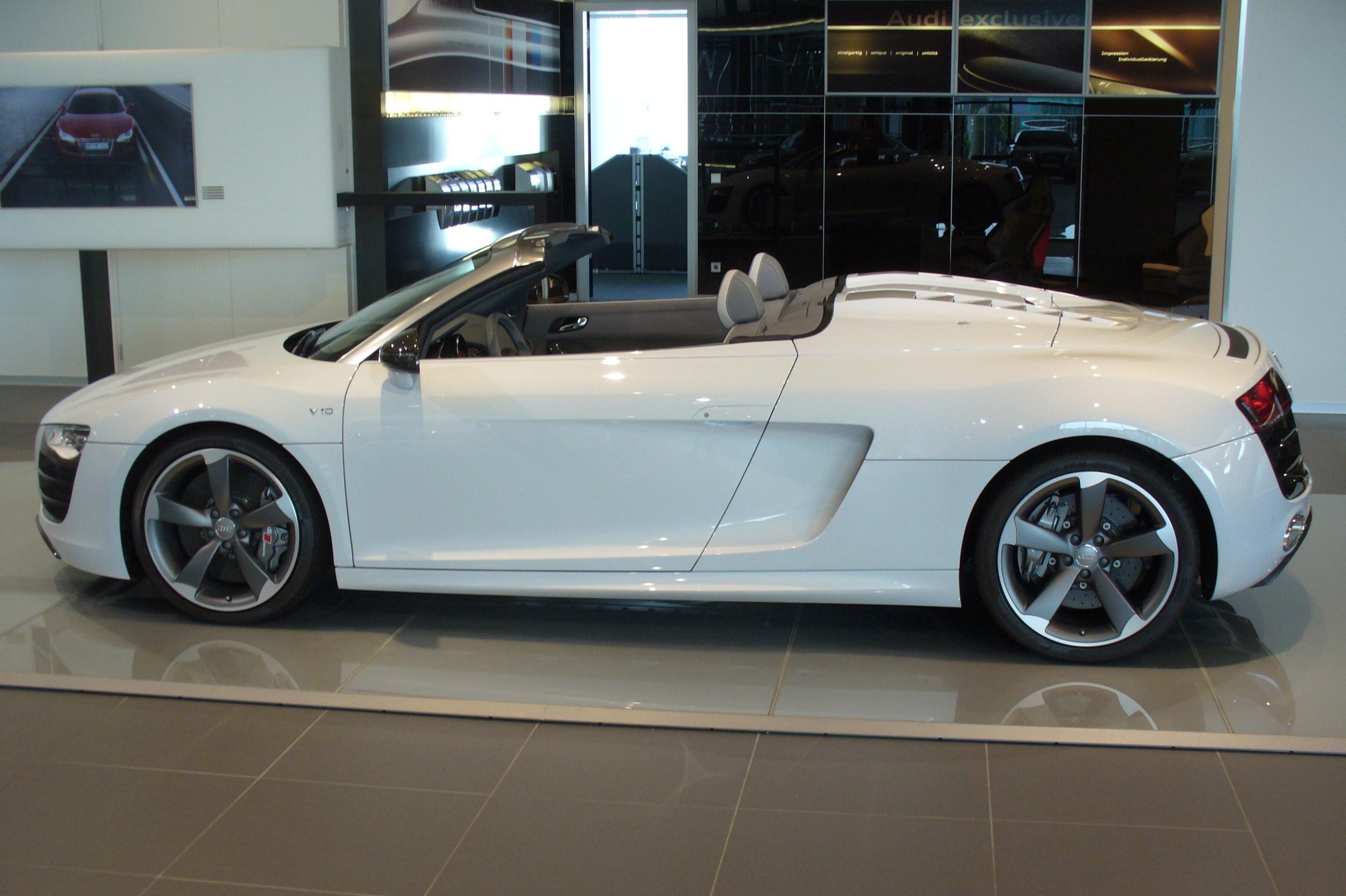Audi r8 spyder matte black 12