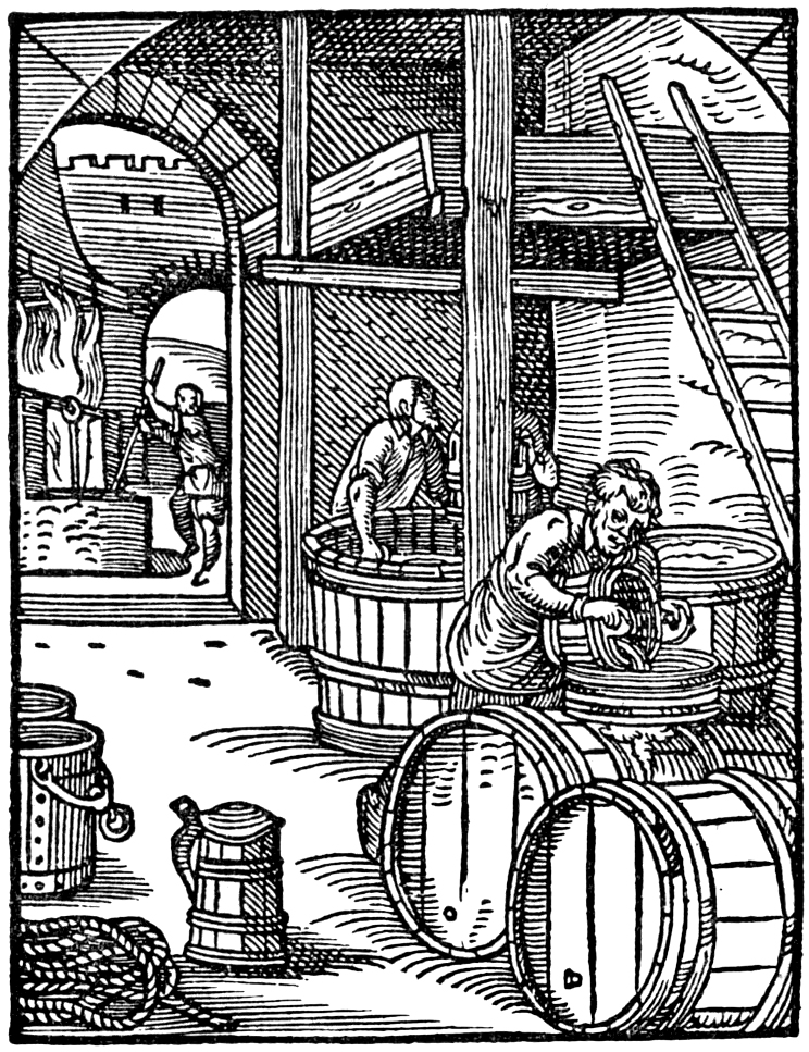 German Beer Brewing in the Middle Ages ,Drawing