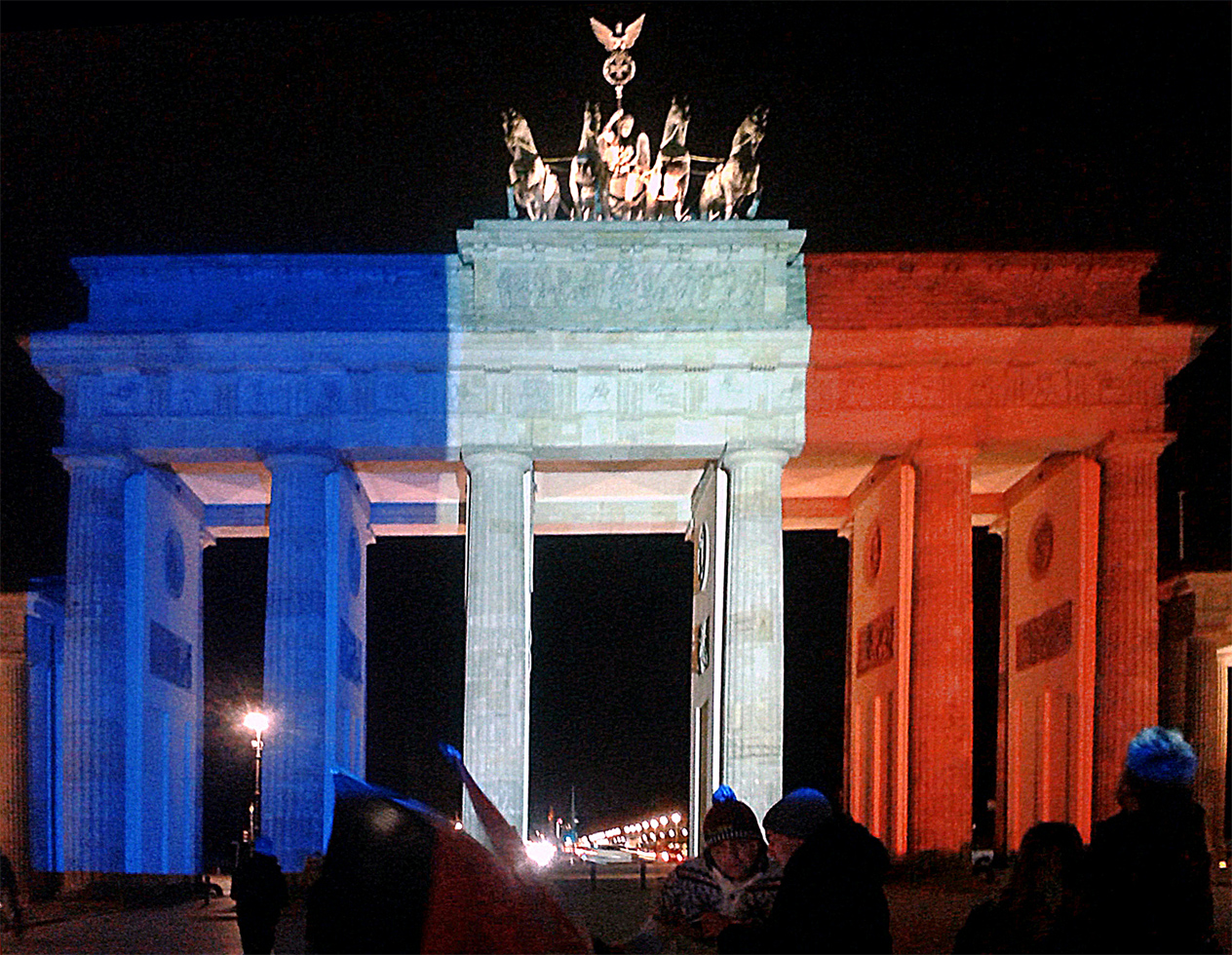 File brandenburg gate illuminated by french for What does porte mean