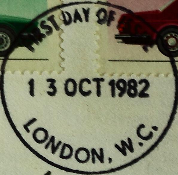 British Cars Postmark London October 13 1982 (5106302916).jpg