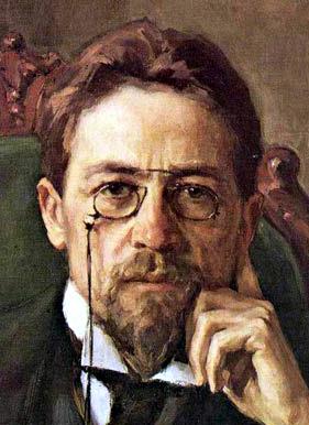 Anton Pavlovich Chekhov. Oil on canvas. From t...
