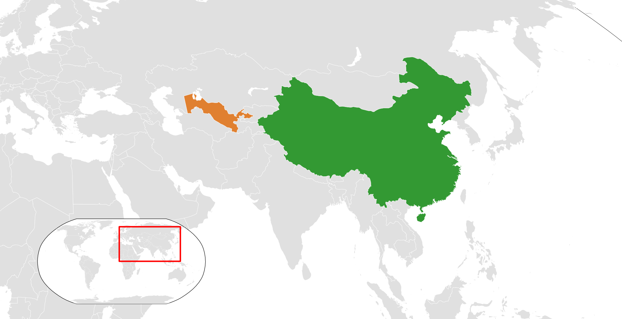Image of: China Uzbekistan Relations Wikipedia