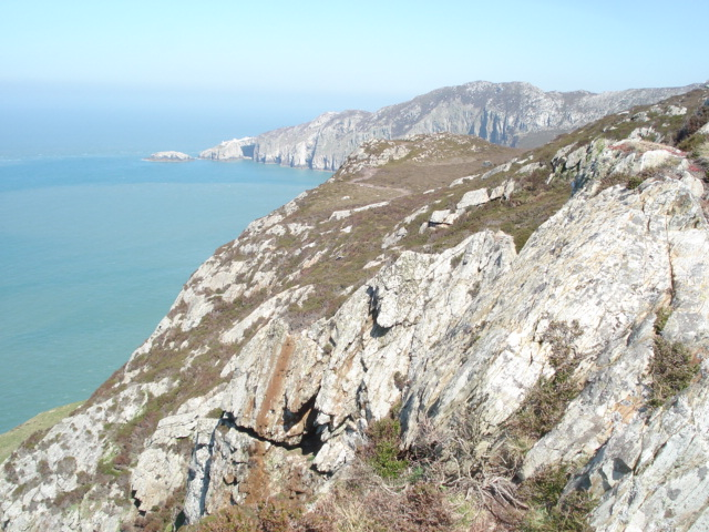 Cliffs to the north of South Stack - geograph.org.uk - 468935