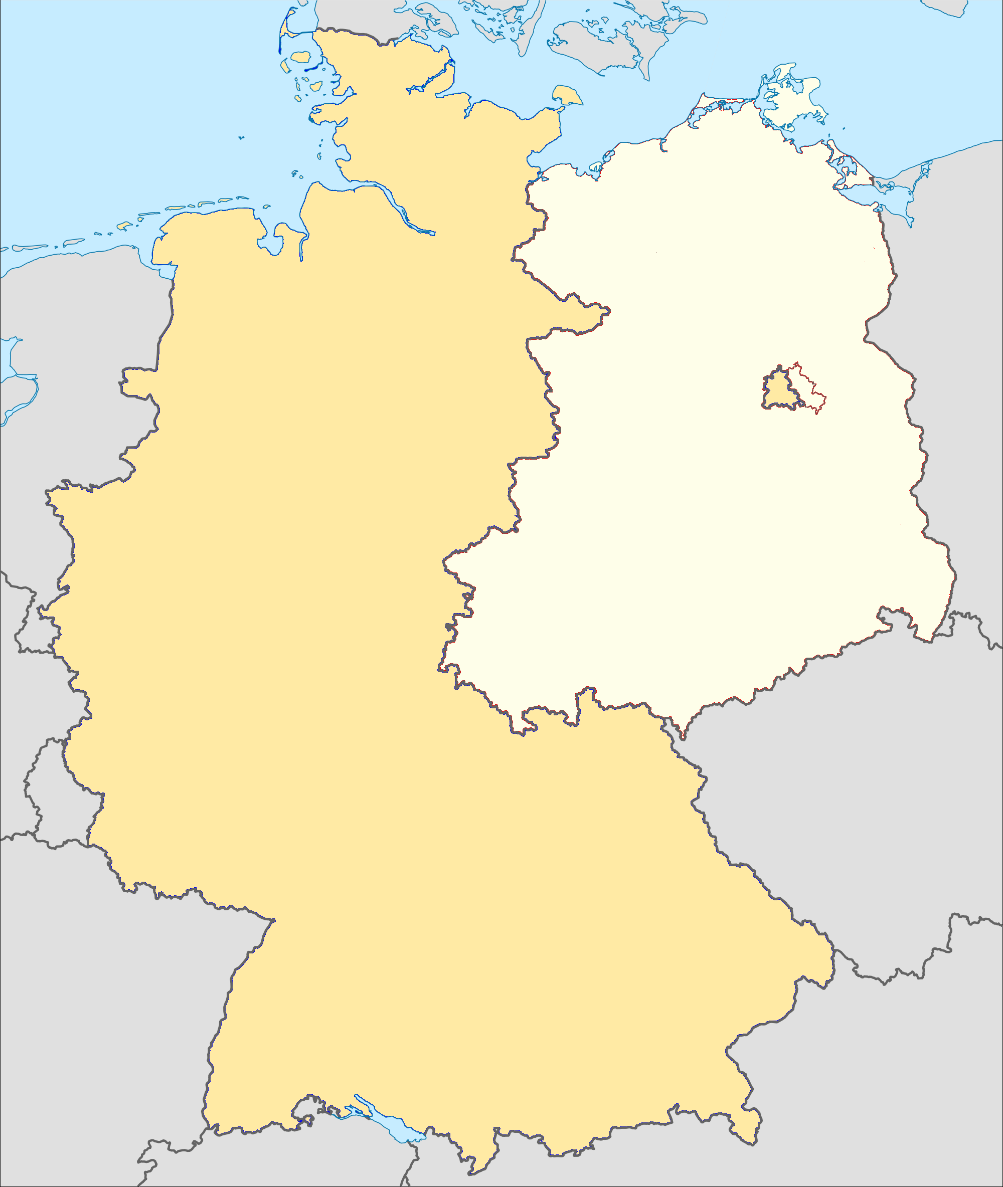 Map Of Germany 2000.File Cold War Germany Png Wikimedia Commons