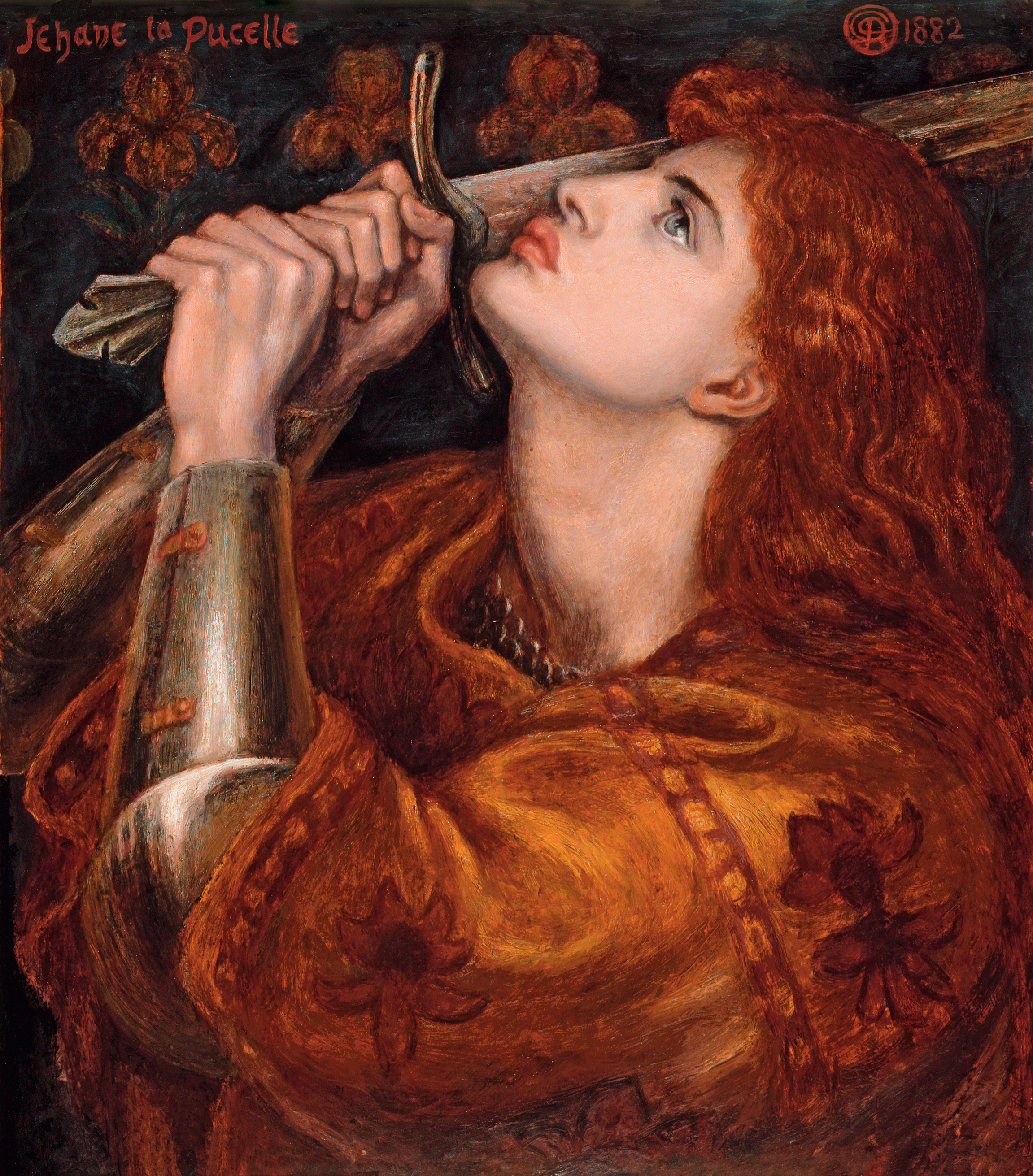 file dante gabriel rossetti joan of arc 1882 jpg wikimedia commons