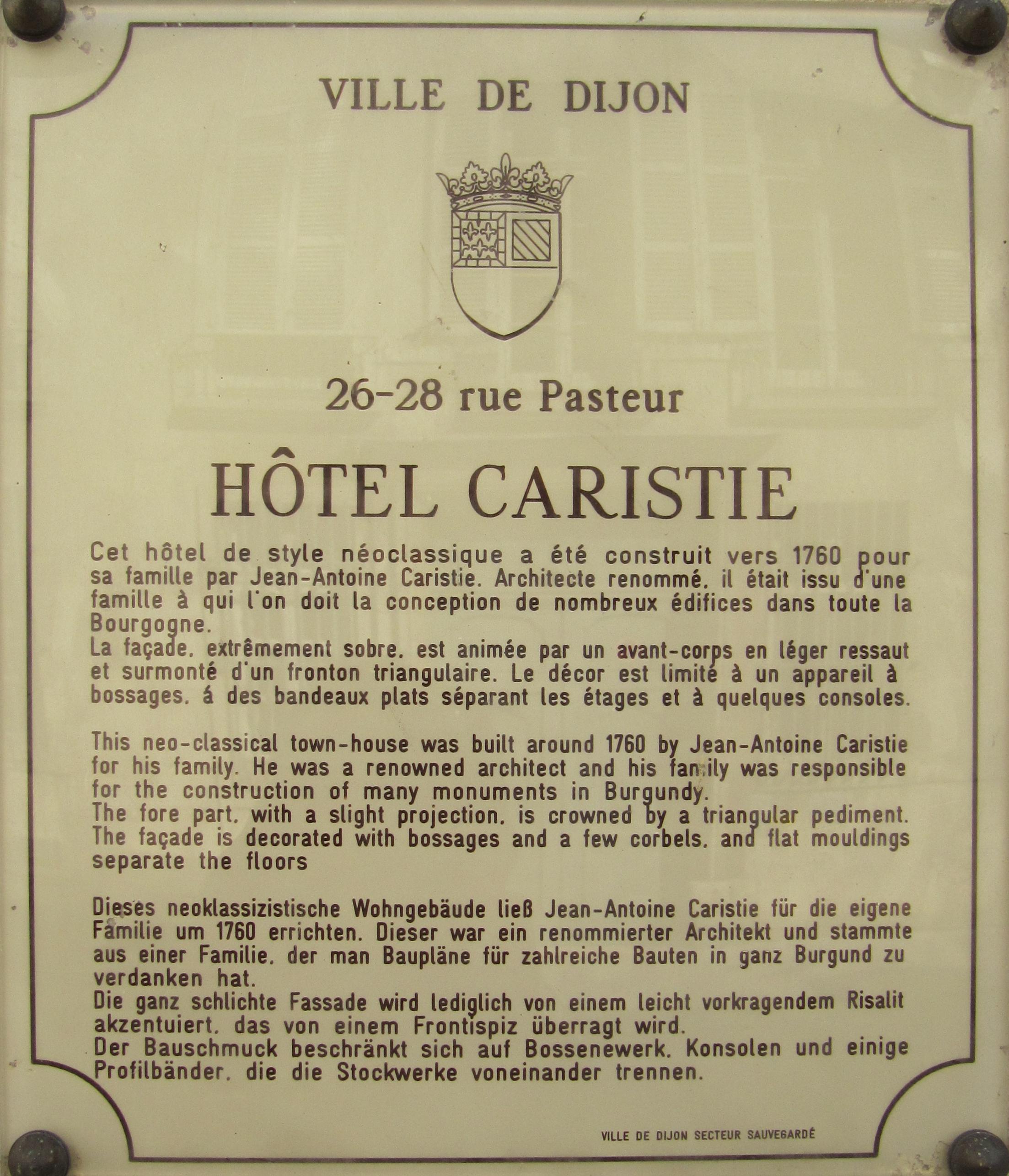Dijon Hotel De Charme