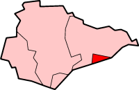 Borough of Hastings, shown within East Sussex