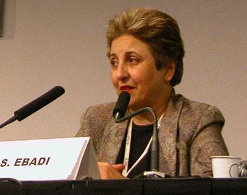 Depiction of Shirin Ebadi