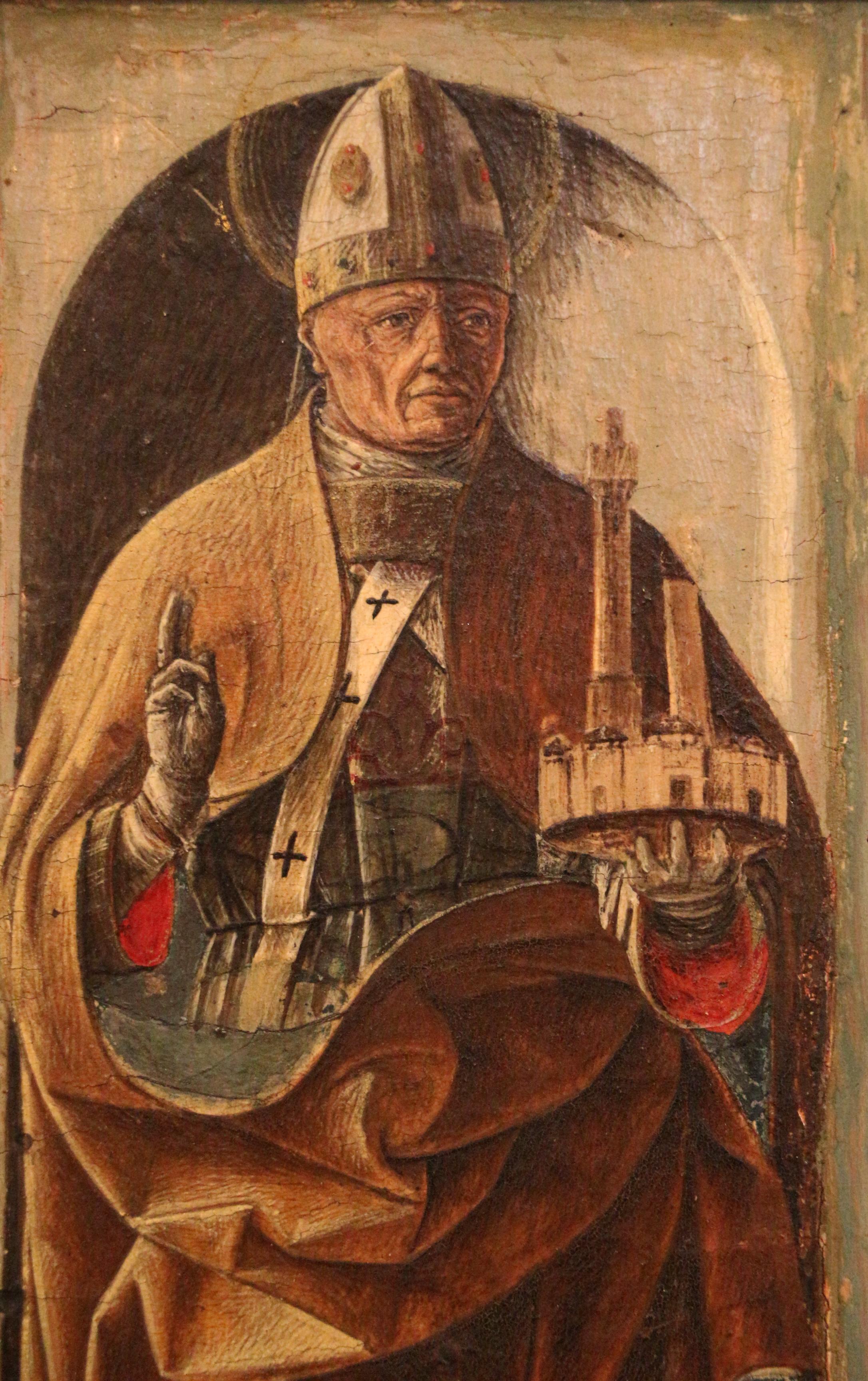 File:Ercole de' roberti, san petronio, dal polittico griffoni, 1472-