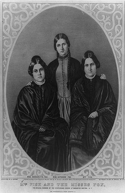 The Fox sisters: Kate (1838–92), Leah (1814–90...