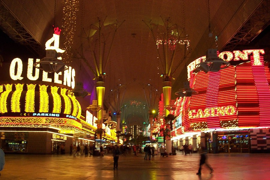 Fremont Street by night