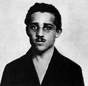 Gavrilo Princip, who assassinated Archduke Franz Ferdinand of Austria and his wife in Sarajevo on June 28, 1914