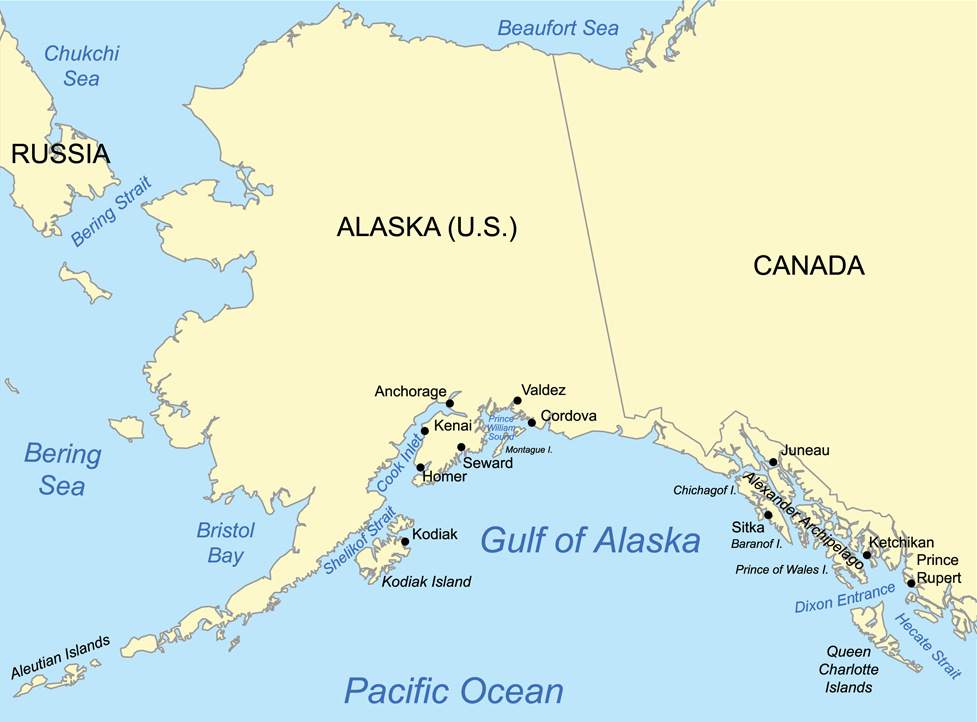 Gulf Of Alaska Wikipedia - Map of alaska and canada