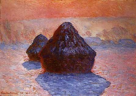 Image Meule, effet de gelee blanche (Grainstack, White Frost Effect), 1891, National Gallery of Scotland, Edinburgh.jpg