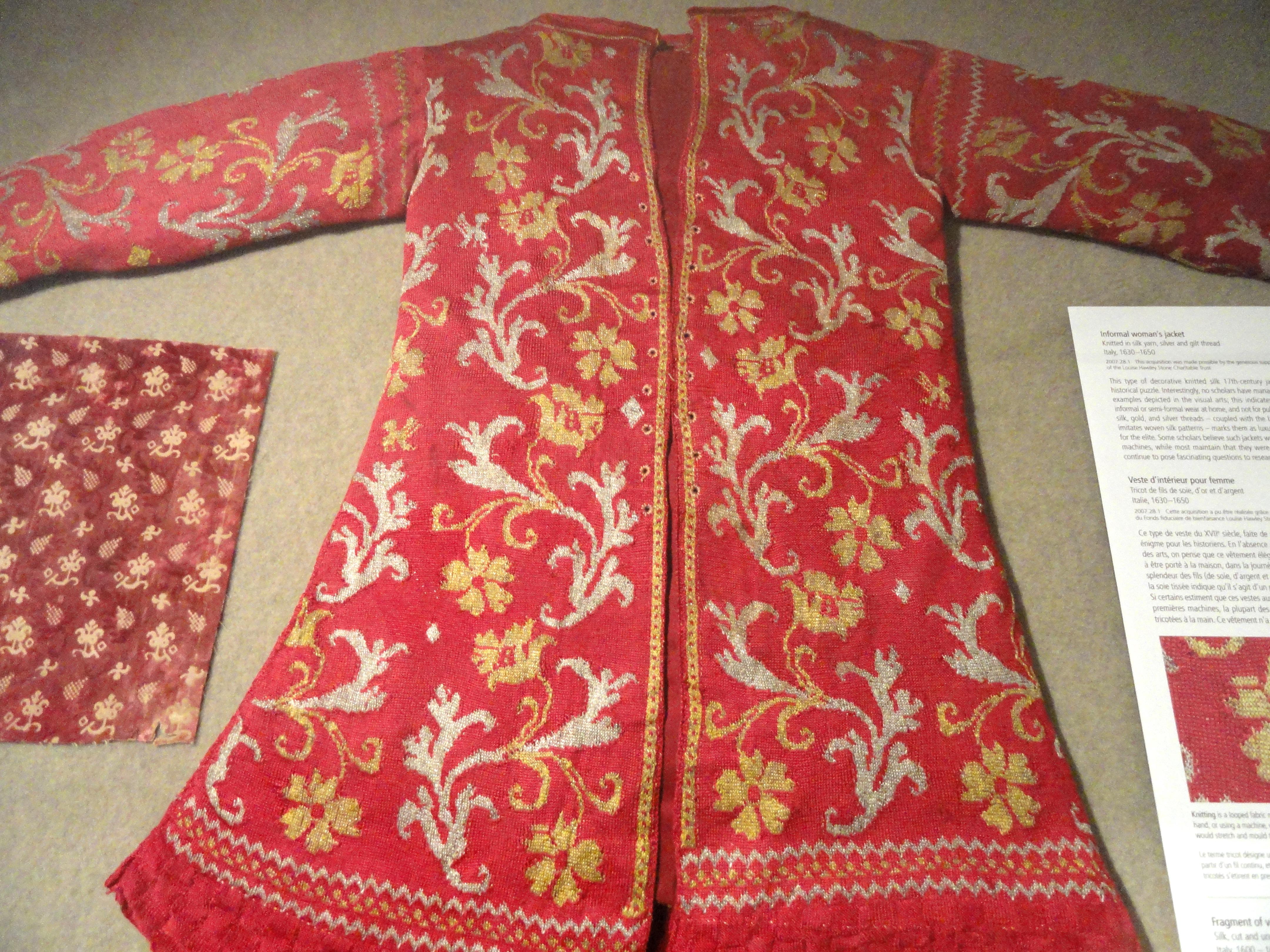 Fileinformal womans jacket italy 1630 1650 knitted silk yarn fileinformal womans jacket italy 1630 1650 knitted silk yarn bankloansurffo Gallery
