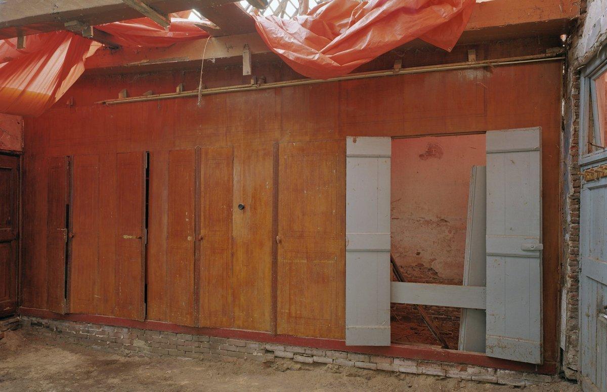 File interieur bedstee tijdens restauratiewerkzaamheden for Boerderij interieur