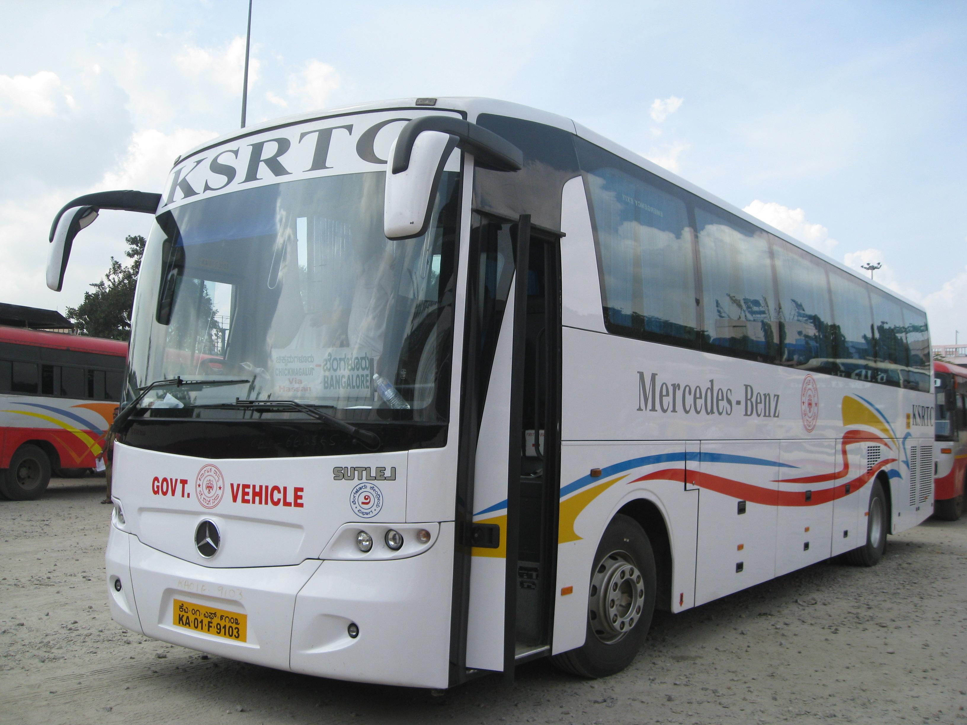 ksrtc mercedes benz bus. Black Bedroom Furniture Sets. Home Design Ideas