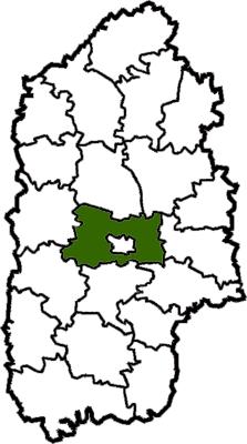 Vị trí của huyện Khmelnytskyi trong tỉnh Khmelnytskyi