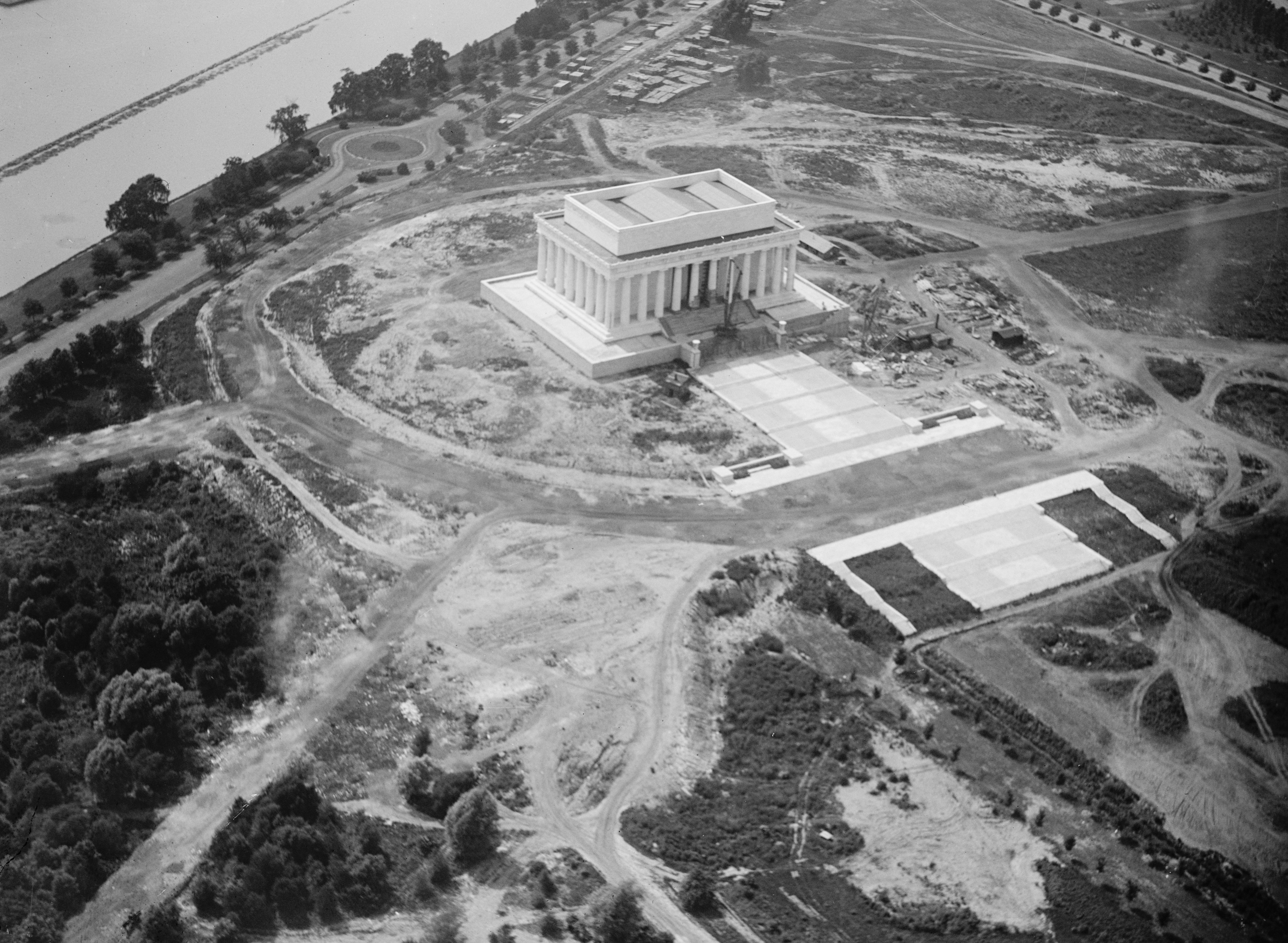 File Lincoln Memorial Under Construction Aerial Jpg