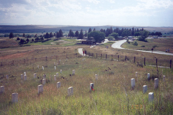 Little Bighorn cemetery overview