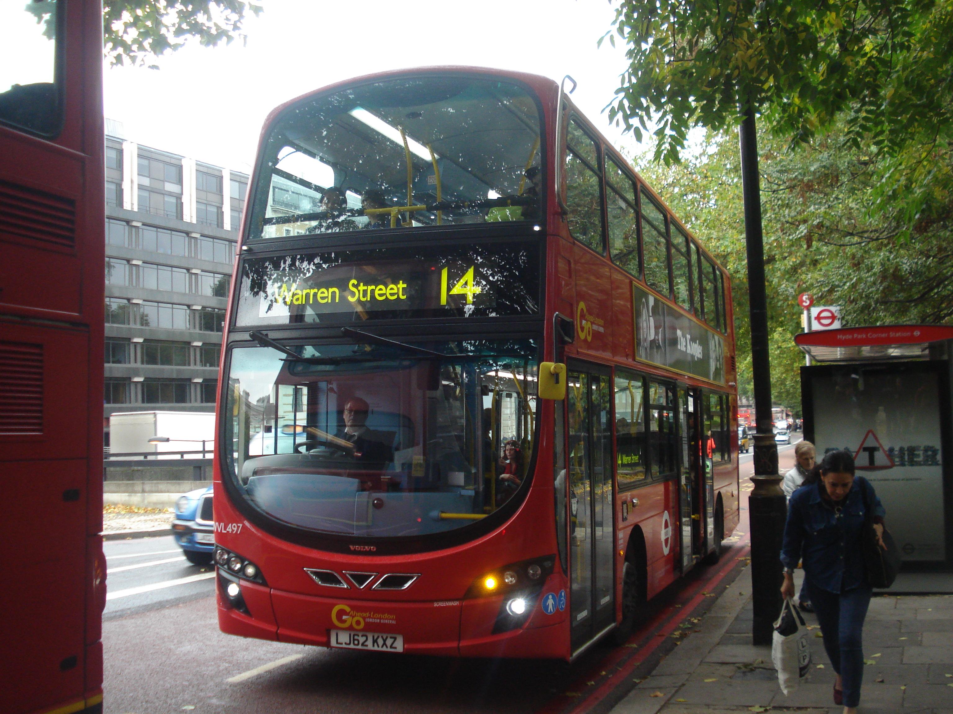 file:london general wvl497 on route 14, hyde park corner