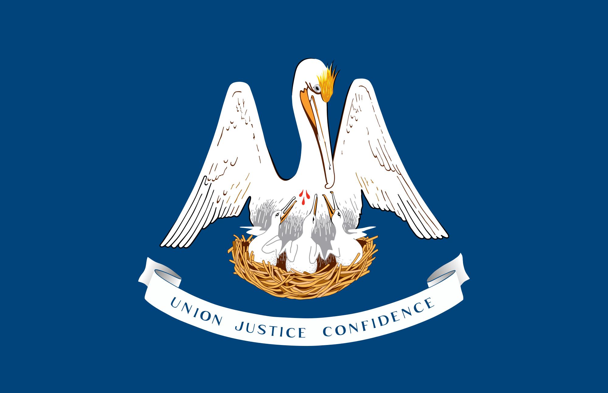 bandeira Louisiana EUA