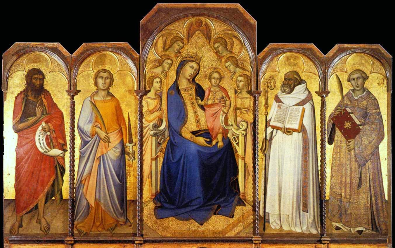 Virgin and Child with Saints.1362.Siena,