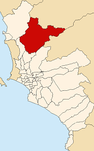 Location of Carabayllo in the Lima province