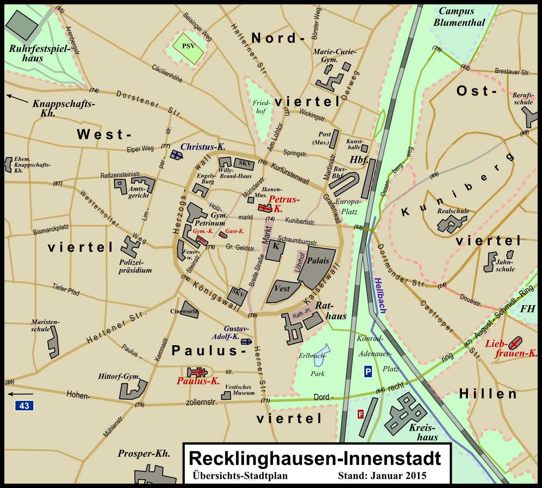 file messtischblatt 25 recklinghausen innenstadt stadtplan. Black Bedroom Furniture Sets. Home Design Ideas